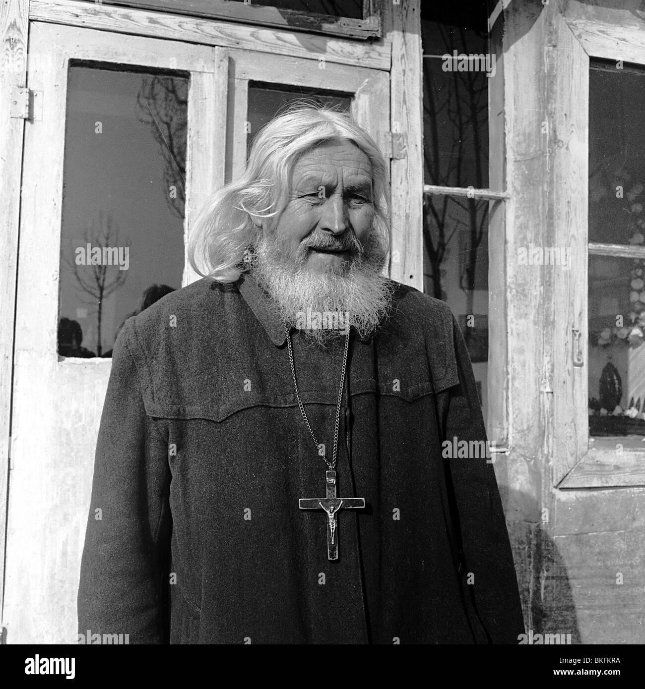 Timofey (born Timofey Vasilevich Prochorov), 22.1.1894 - 13.7.2004, Russian hermit in Munich, Germany, half length, - Stock Image