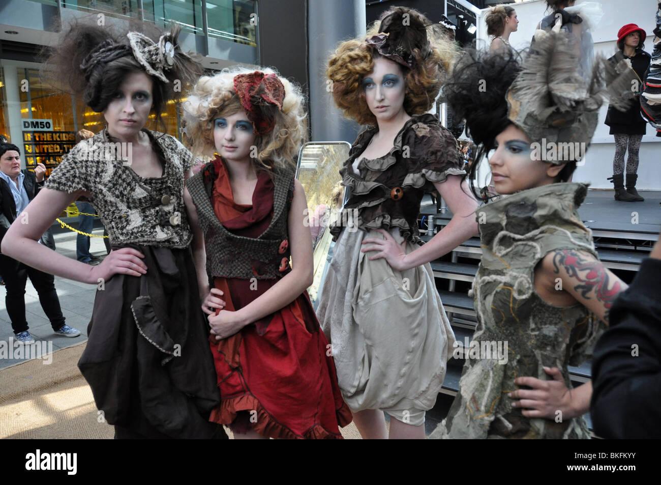 Models wait at London's annual Alternative Fashion Week-Spitalfields. England UK Stock Photo