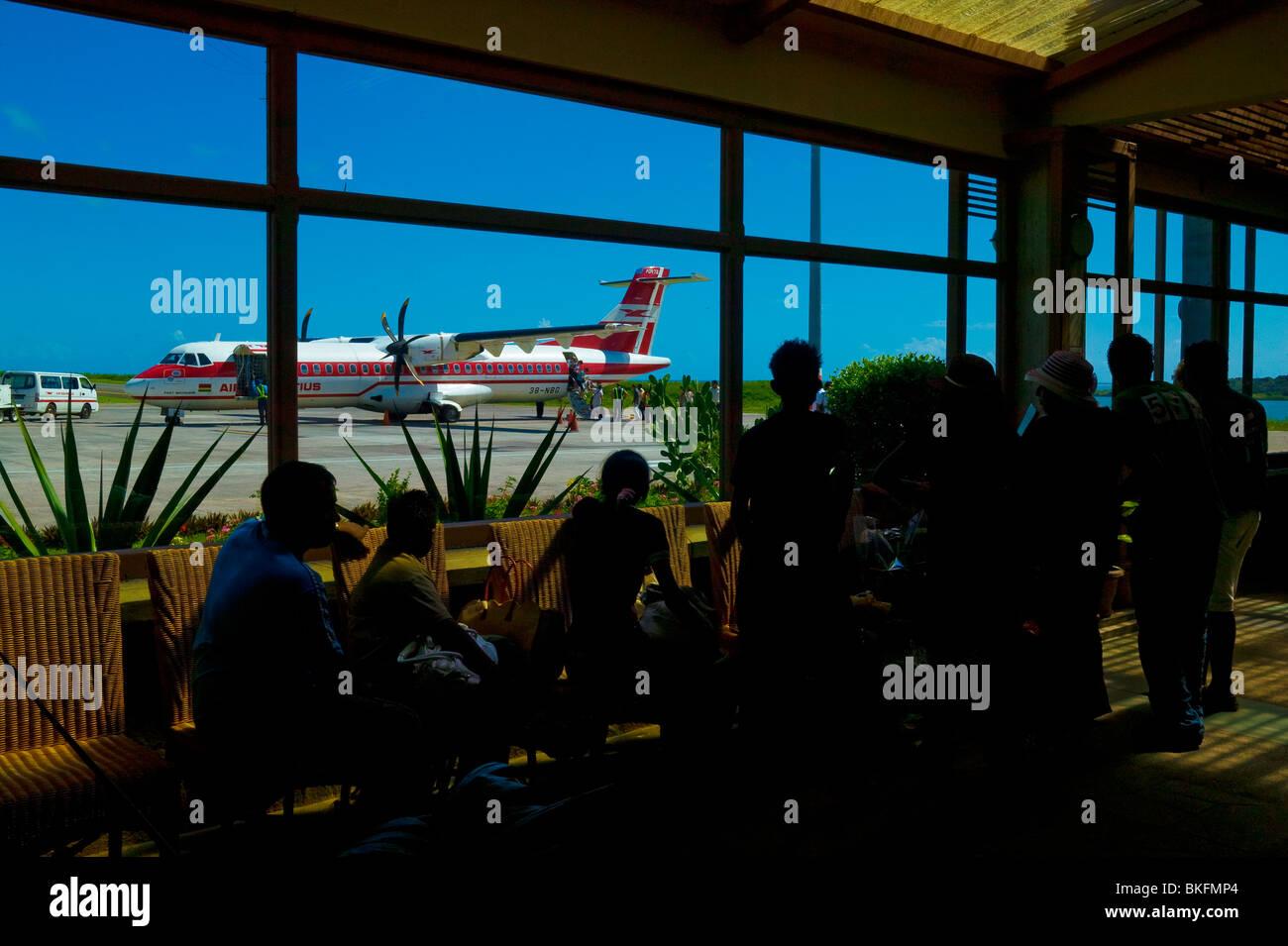AIRPORT OF RODRIGUES ISLAND, MAURITIUS REPUBLIC - Stock Image