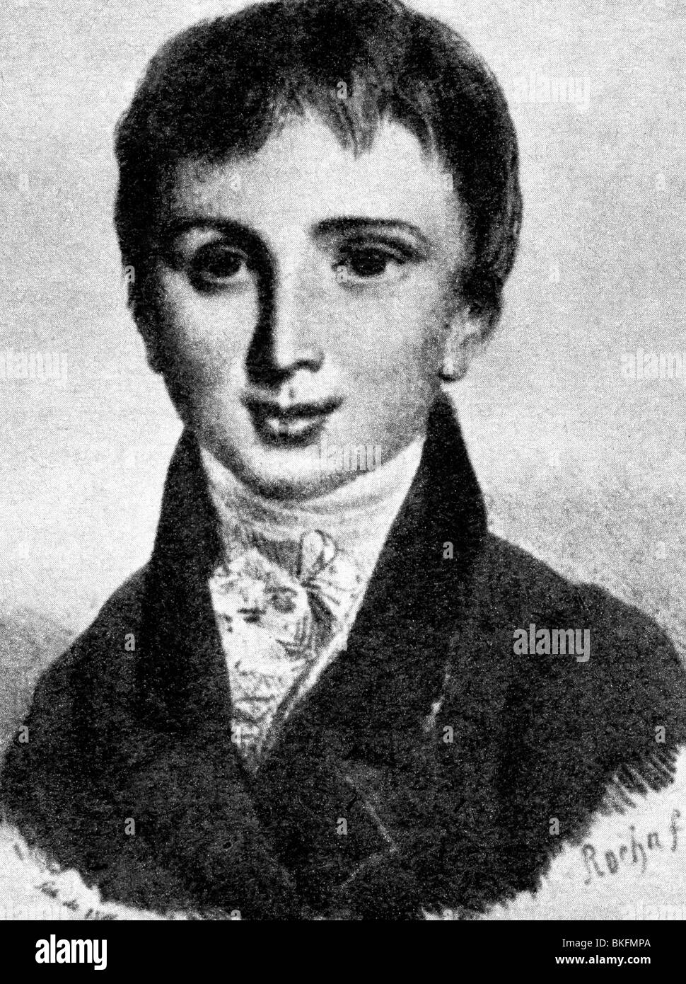 Liszt, Franz, 22.10.1811 - 31.7.1886, Hungarian composer and pianist, as child, eleven years old, 1823, , Additional - Stock Image