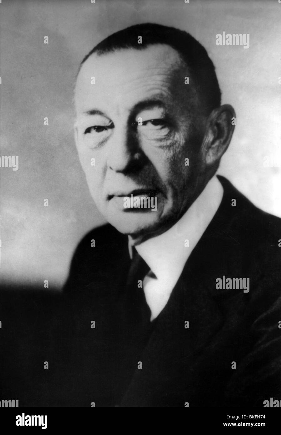 Rachmaninov, Sergei, 1.4.1873 - 28.3.1943, Russian composer, portrait, 1930s, Additional-Rights-Clearances-NA - Stock Image