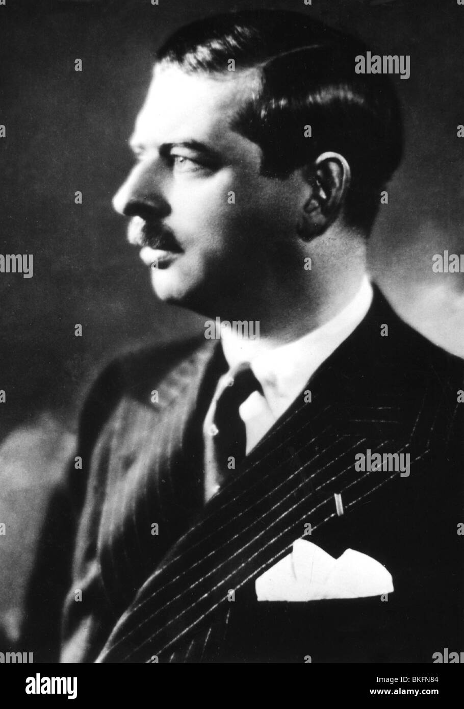Carol II of Romania, 15.10.1893 - 4.4. 1953, King of Romania 8.6.1930 - 6.9.1940, portrait, 1930s, Additional-Rights - Stock Image
