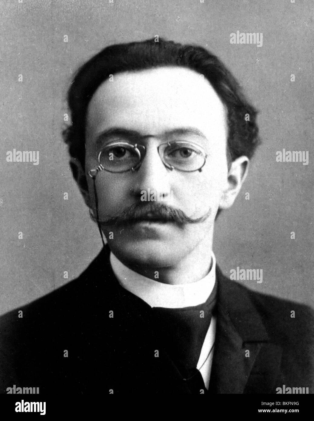 LUDWIG FULDA  - German writer (1862-1939) - Stock Image