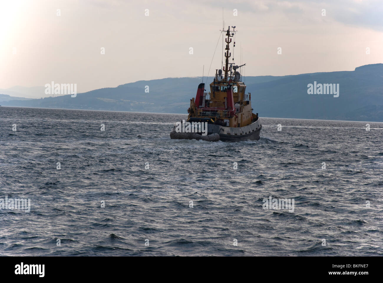 The S D Nimble Support Tug in the Firth of Clyde Gourock Scotland - Stock Image