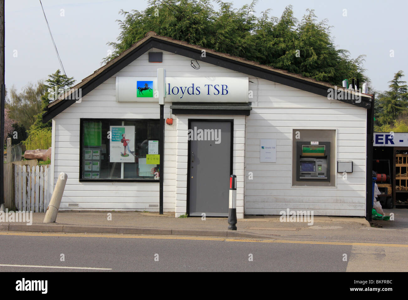 local small lloyds tsb bank outlet coningsby lincolnshire england uk gb - Stock Image