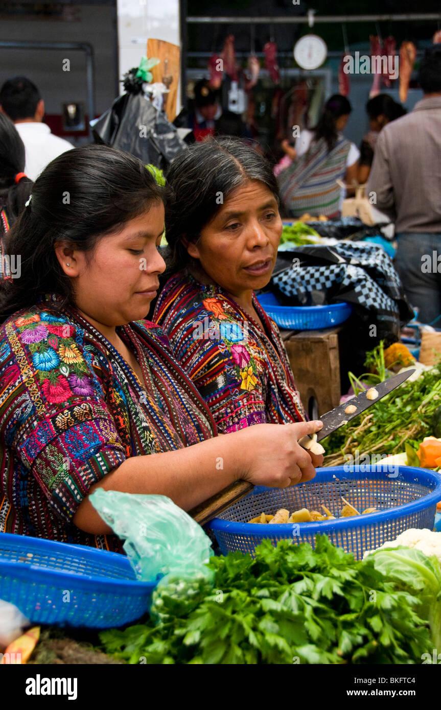 Market Panajachel Guatemala - Stock Image