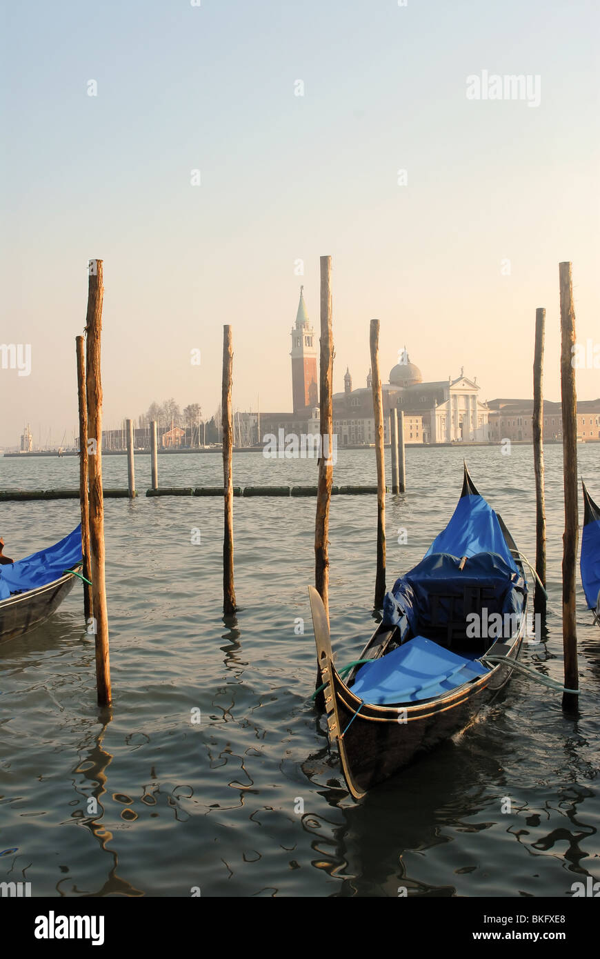 Gondola at Grand Canale, Venice (Italy) - Stock Image