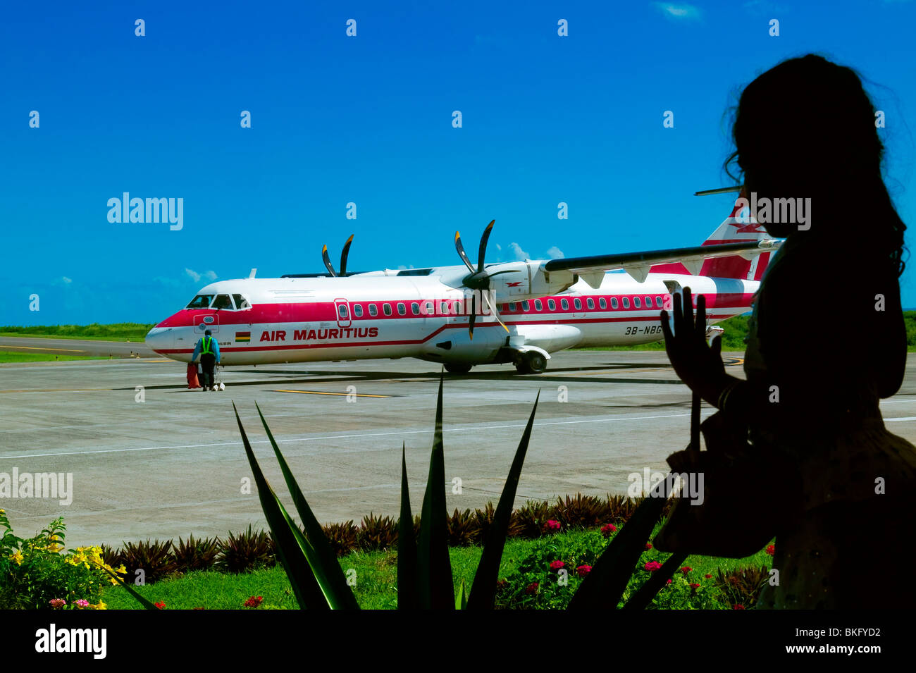 AIRPORT OF RODRIGUES ISLAND, MAURITIUS REPUBLIC Stock Photo
