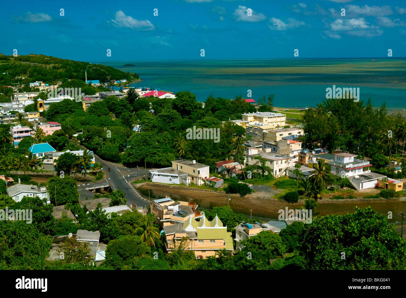 PORT MATHURIN, RODRIGUES ISLAND, MAURITIUS REPUBLIC Stock Photo