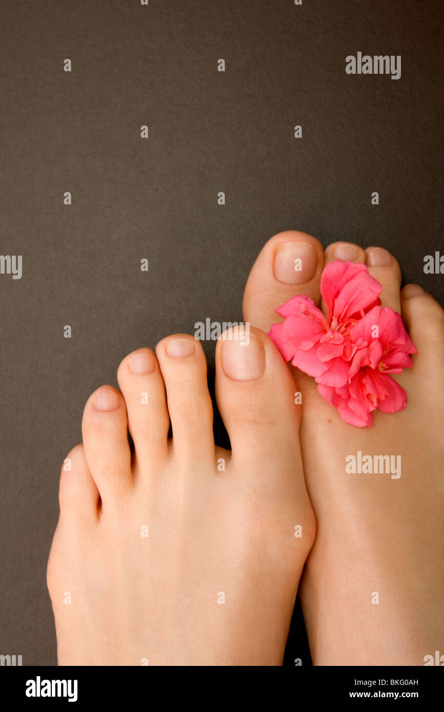 Close-up of woman's feet Stock Photo