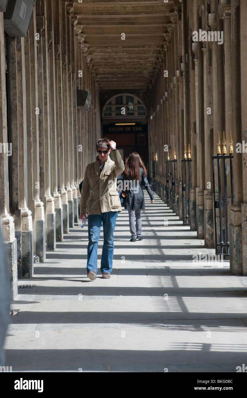 Paris, France, Women Walking in Arcades, Outside in \