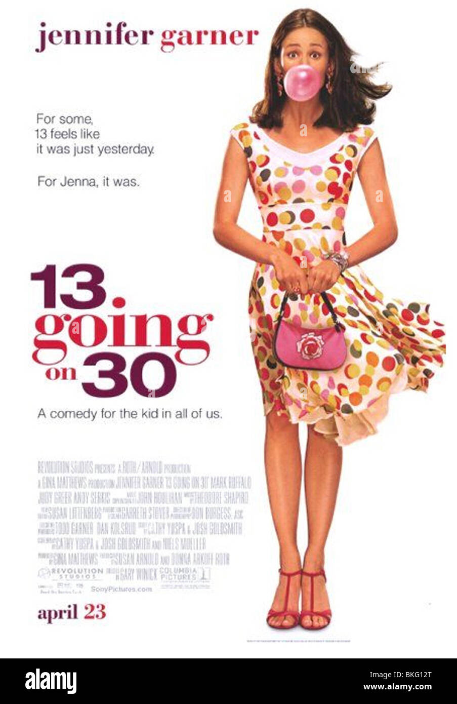 13 GOING ON 30 -2004 POSTER - Stock Image