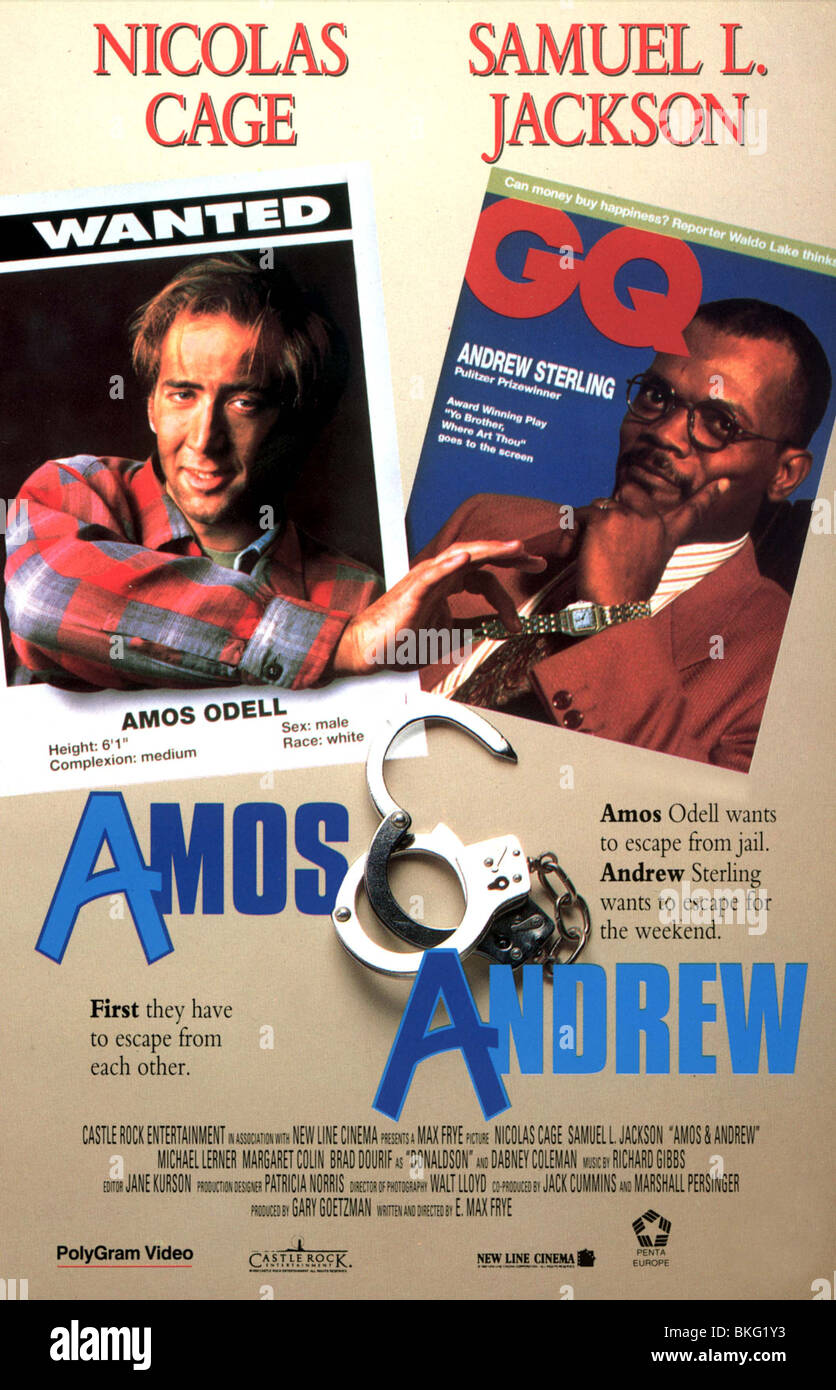 AMOS AND ANDREW -1993 POSTER - Stock Image