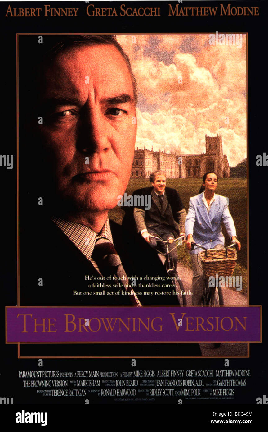 THE BROWNING VERSION (1993) MIKE FIGGIS (DIR) BRWV 001VS - Stock Image