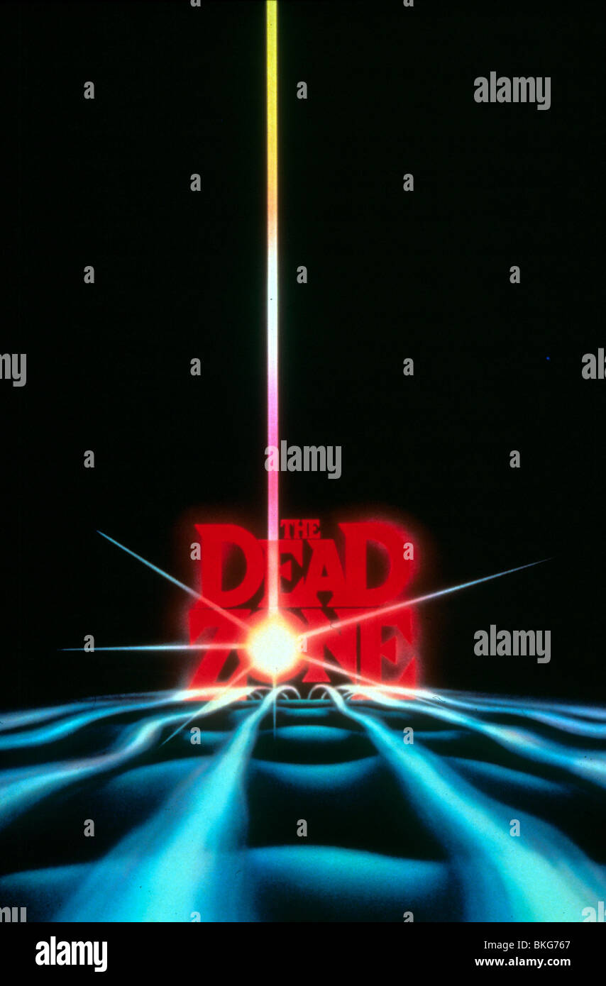 THE DEAD ZONE -1983 POSTER - Stock Image