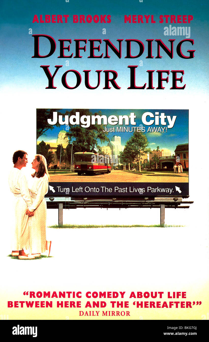 DEFENDING YOUR LIFE (1991) POSTER DFL 001 VS - Stock Image