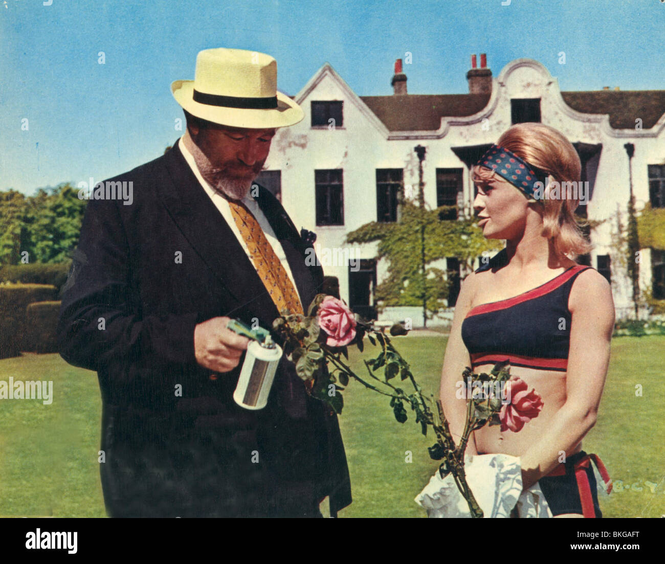 THE FAST LADY (1962) JAMES ROBERTSON JUSTICE, JULIE CHRISTIE FLDY 001FOH - Stock Image