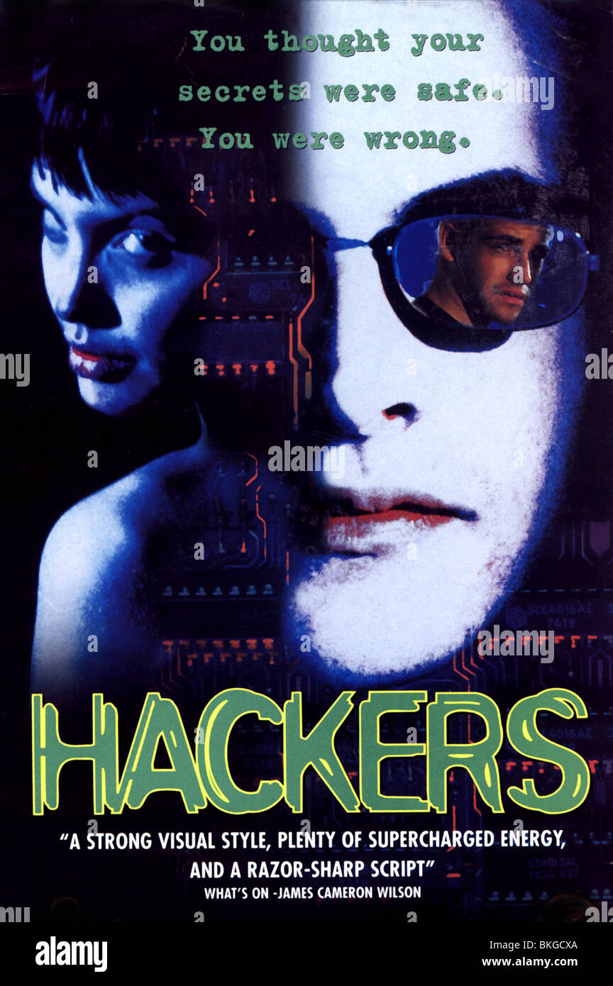 HACKERS -1995 POSTER - Stock Image