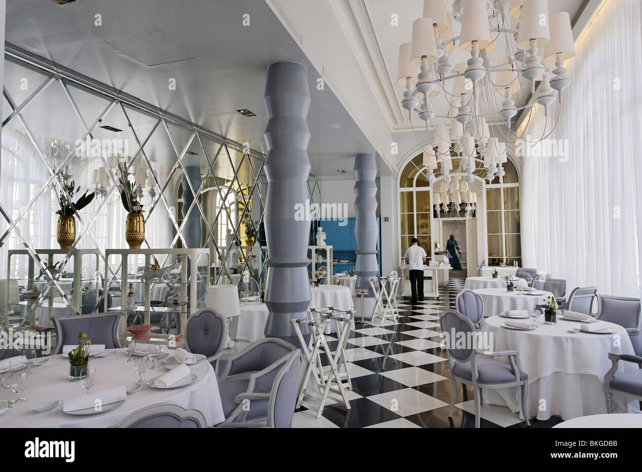Inside The Restaurant La Terraza Del Casino Madrid Spain