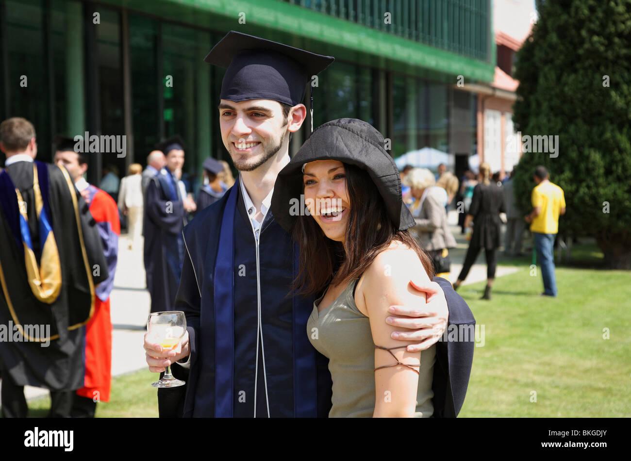 Graduate Boyfriend University Germany Stock Photos