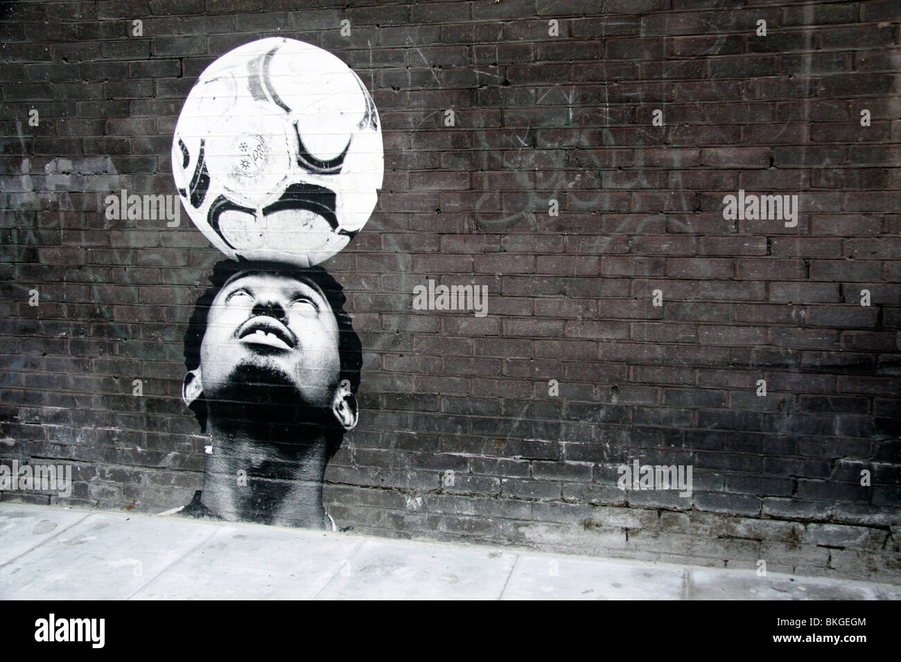 Street art on a wall in east London - Stock Image