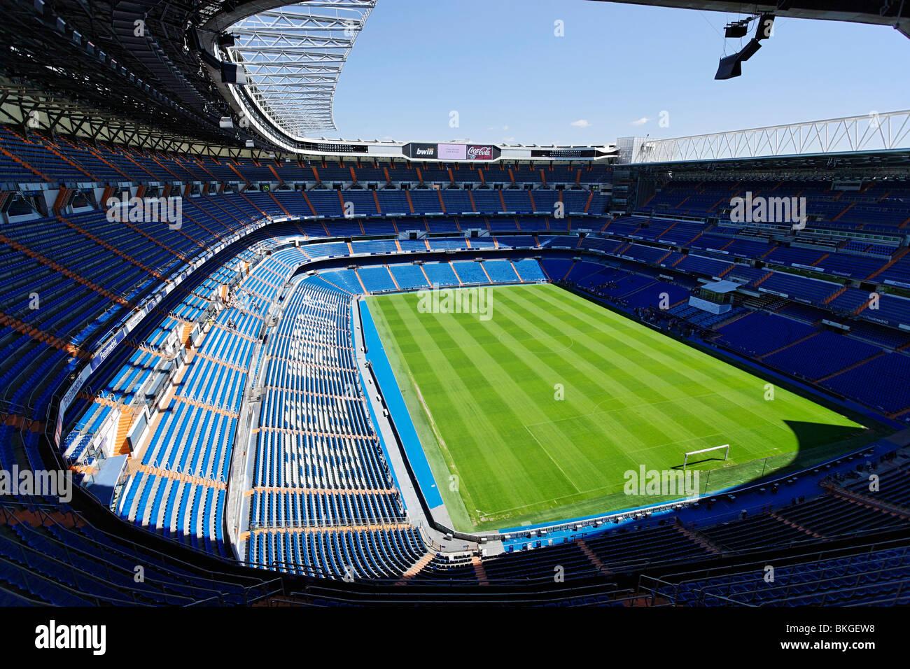 Santiago Bernabéu Stadium (UEFA Elite Stadium), Madrid, Spain - Stock Image