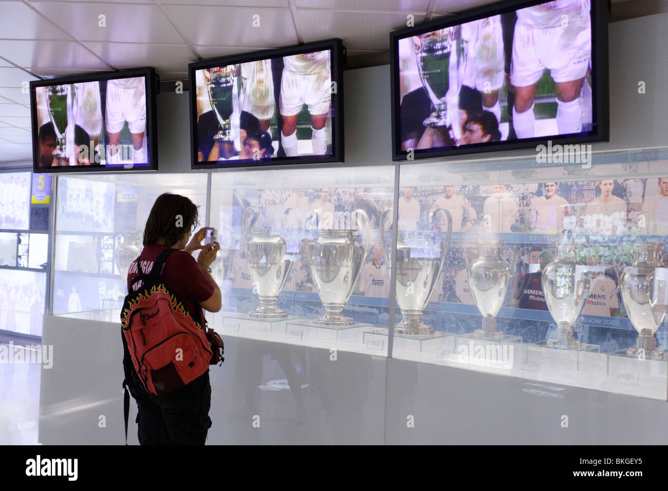 Real Madrid Museum, Santiago Bernabeu Stadium (UEFA Elite Stadium), Madrid, Spain - Stock Image