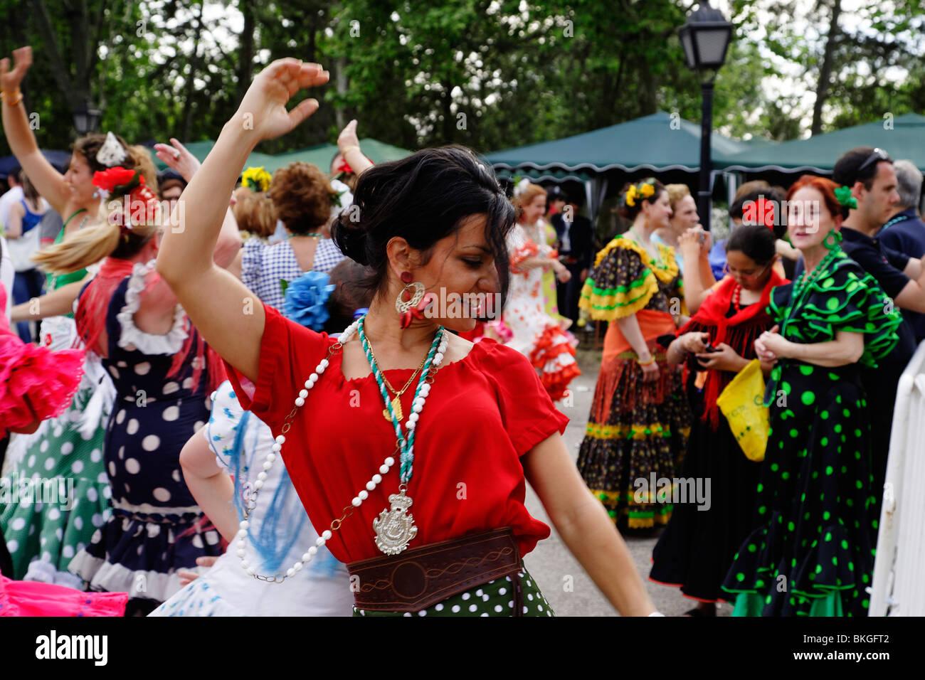 Andalusian celebration, Romeria, Madrid, Spain - Stock Image