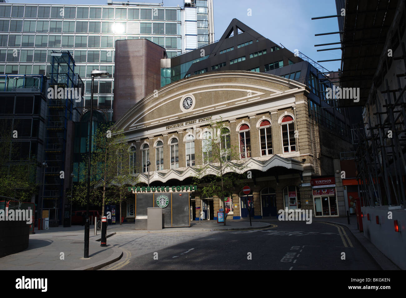 Fenchurch Street Station, a mainline train transport node in the City of London,England, UK. - Stock Image