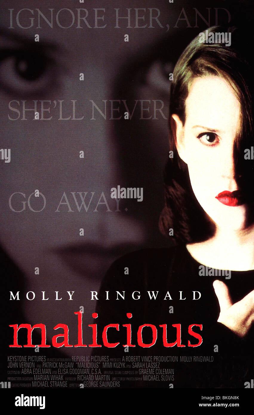 MALICIOUS -1995 POSTER - Stock Image