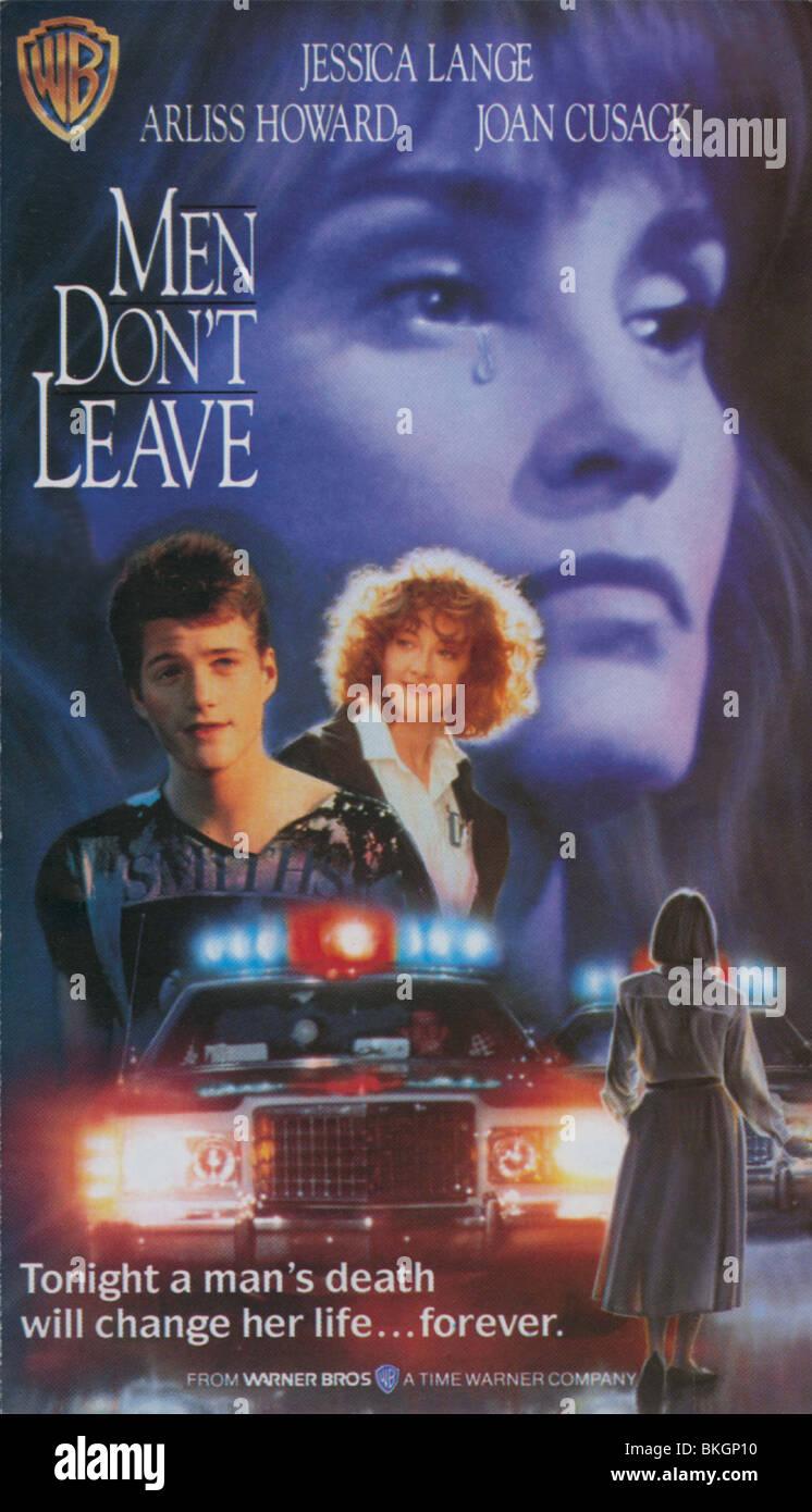 MEN DON'T LEAVE -1990 POSTER - Stock Image