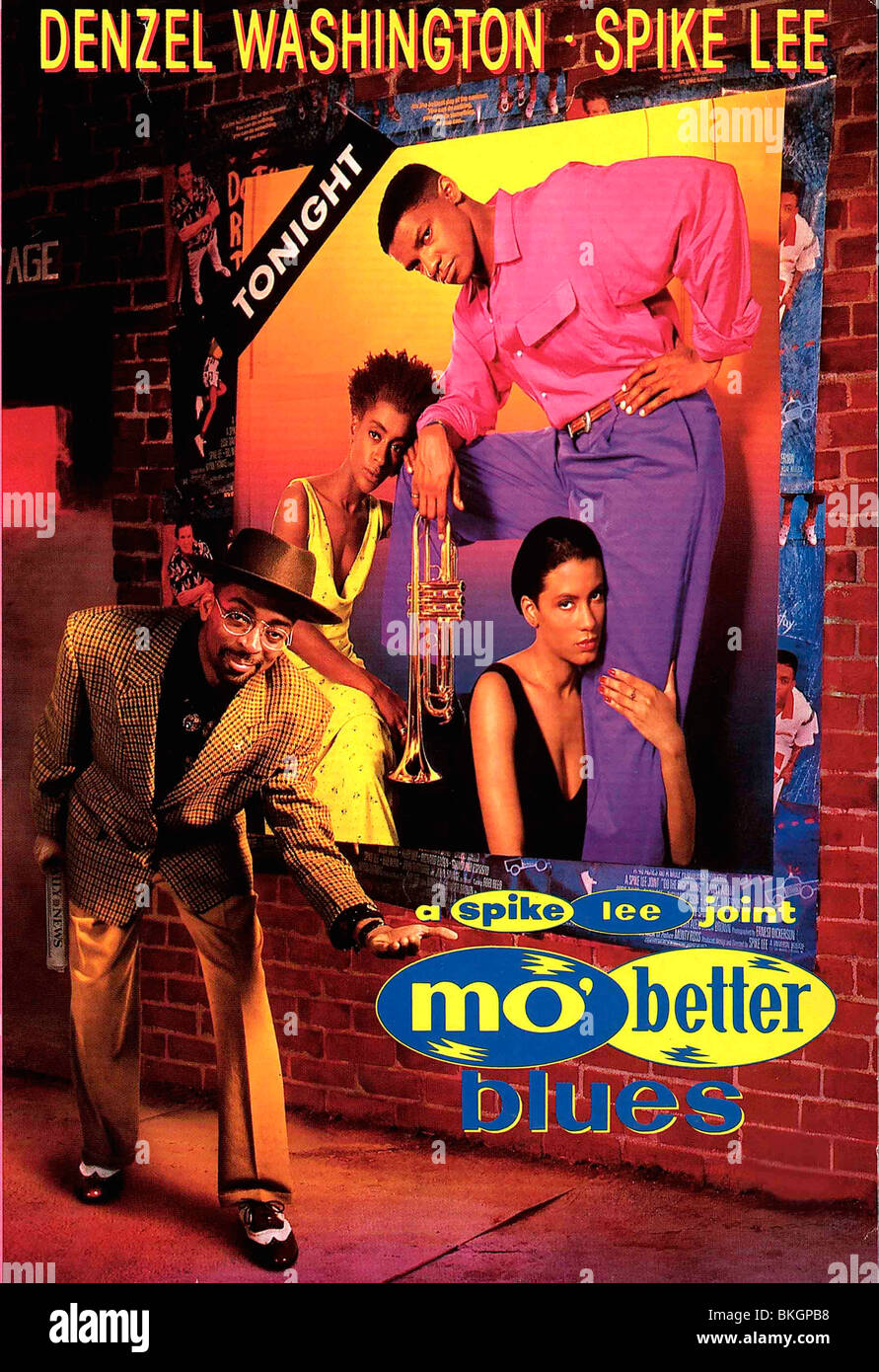 MO' BETTER BLUES -1990 POSTER - Stock Image