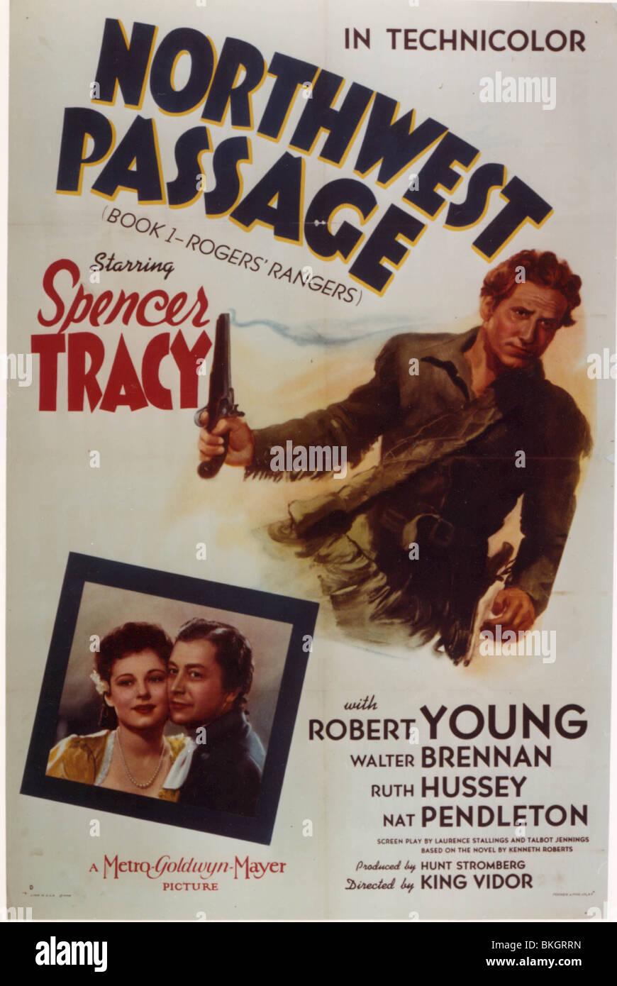 NORTHWEST PASSAGE -1940 POSTER - Stock Image