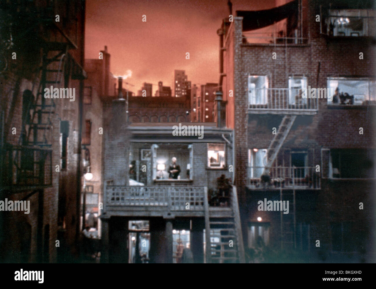 REAR WINDOW -1954 - Stock Image