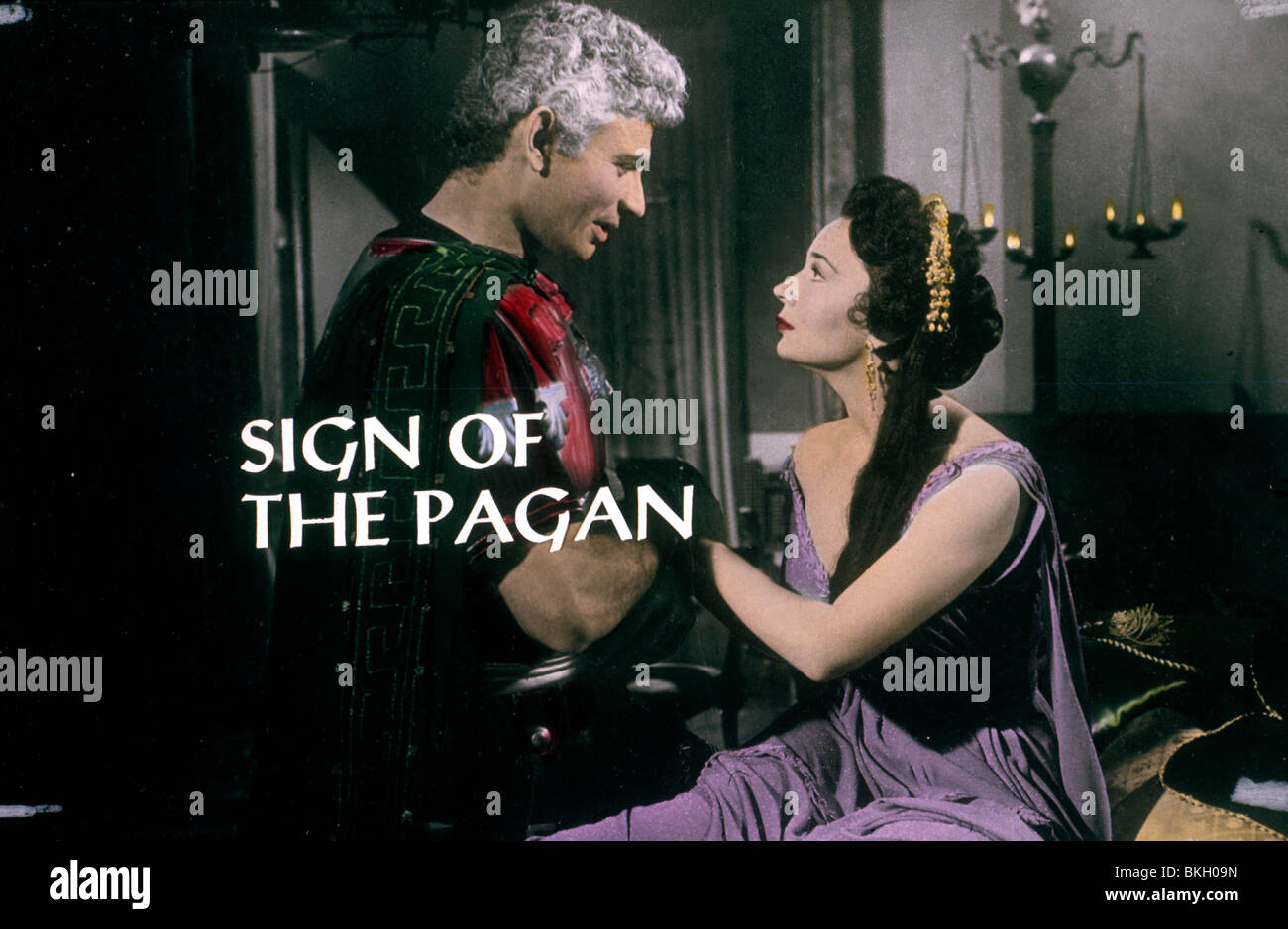 SIGN OF THE PAGAN -1954 - Stock Image