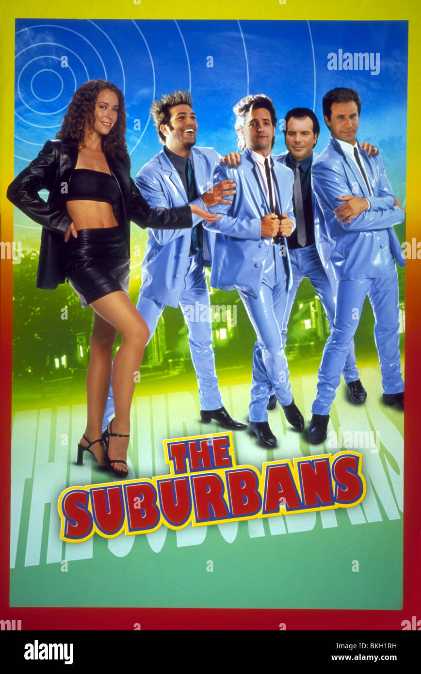 THE SUBURBANS -1999 POSTER - Stock Image