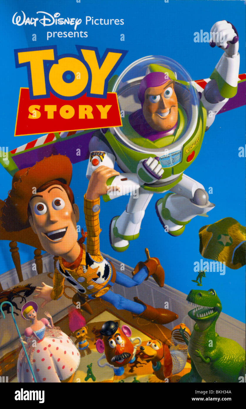 TOY STORY (1995) ANIMATED POSTER CREDIT DISNEY TYSY 001VS - Stock Image