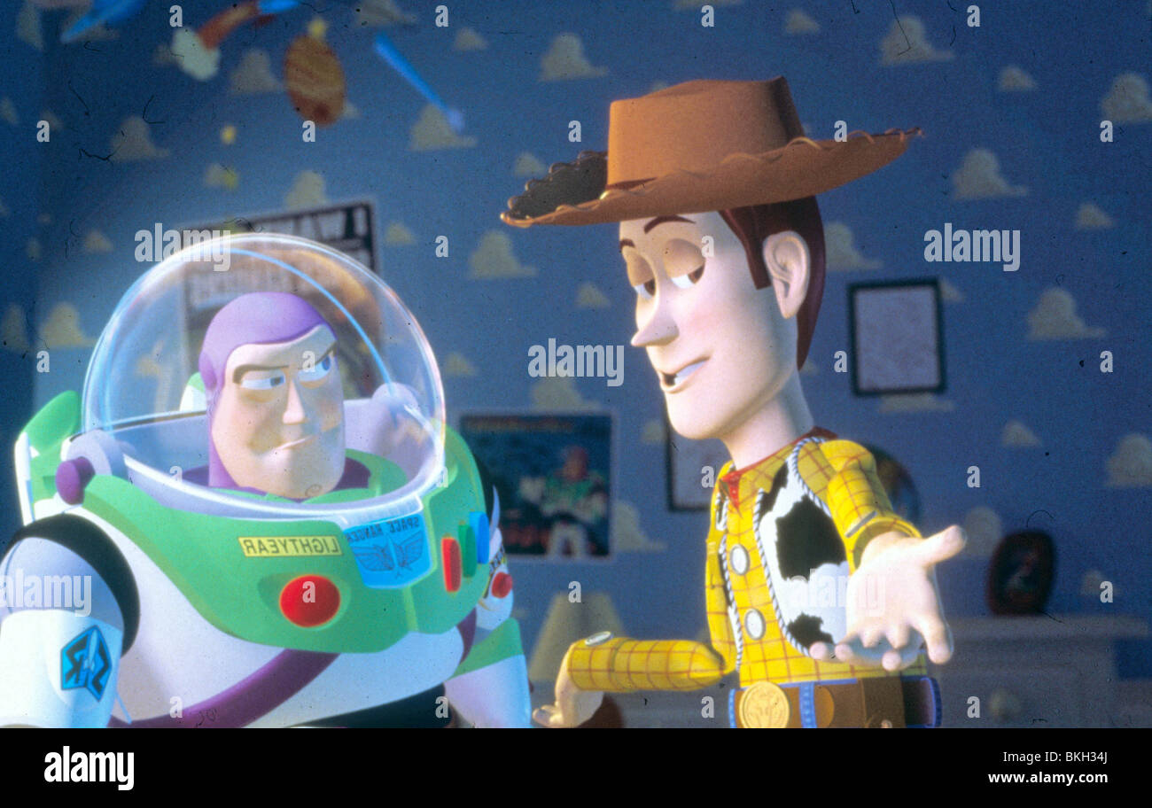 TOY STORY (1995) ANIMATED BUZZ LIGHTYEAR, WOODY TYSY 007 H - Stock Image