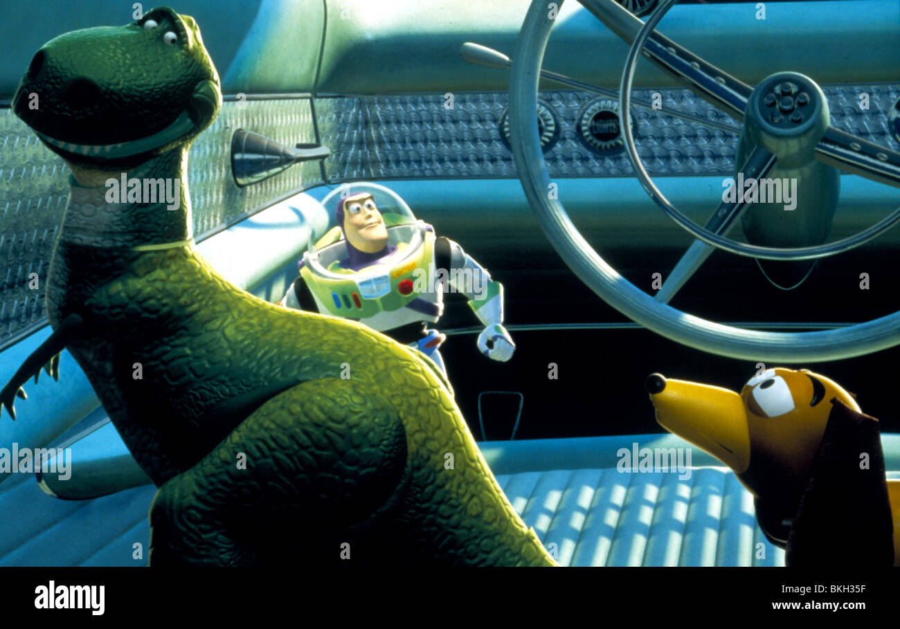 TOY STORY 2 (1999) ANIMATED CREDIT DISNEY REX (CHARACTER), BUZZ LIGHTYEAR (CHARACTER), SLINKY DOG (CHARACTER) TTWO - Stock Image
