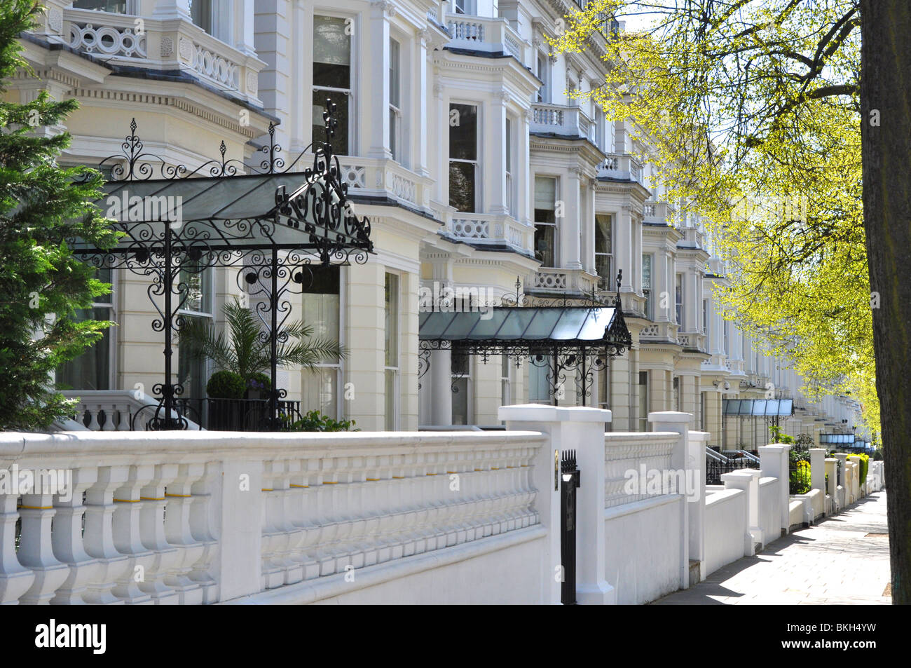 Holland Park A Street Of Luxury Homes In West London UK