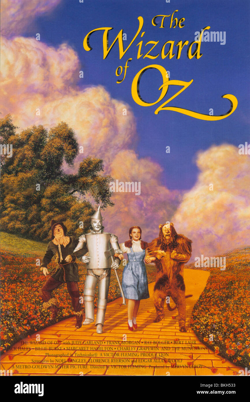 THE WIZARD OF OZ -1939 POSTER - Stock Image