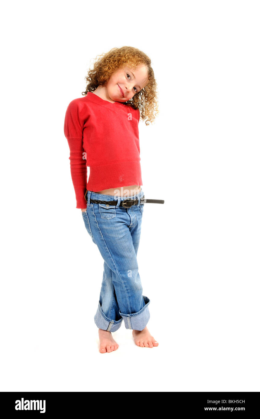 41887a15d Girl Wearing Blue Jeans And White Shirt Stock Photos   Girl Wearing ...