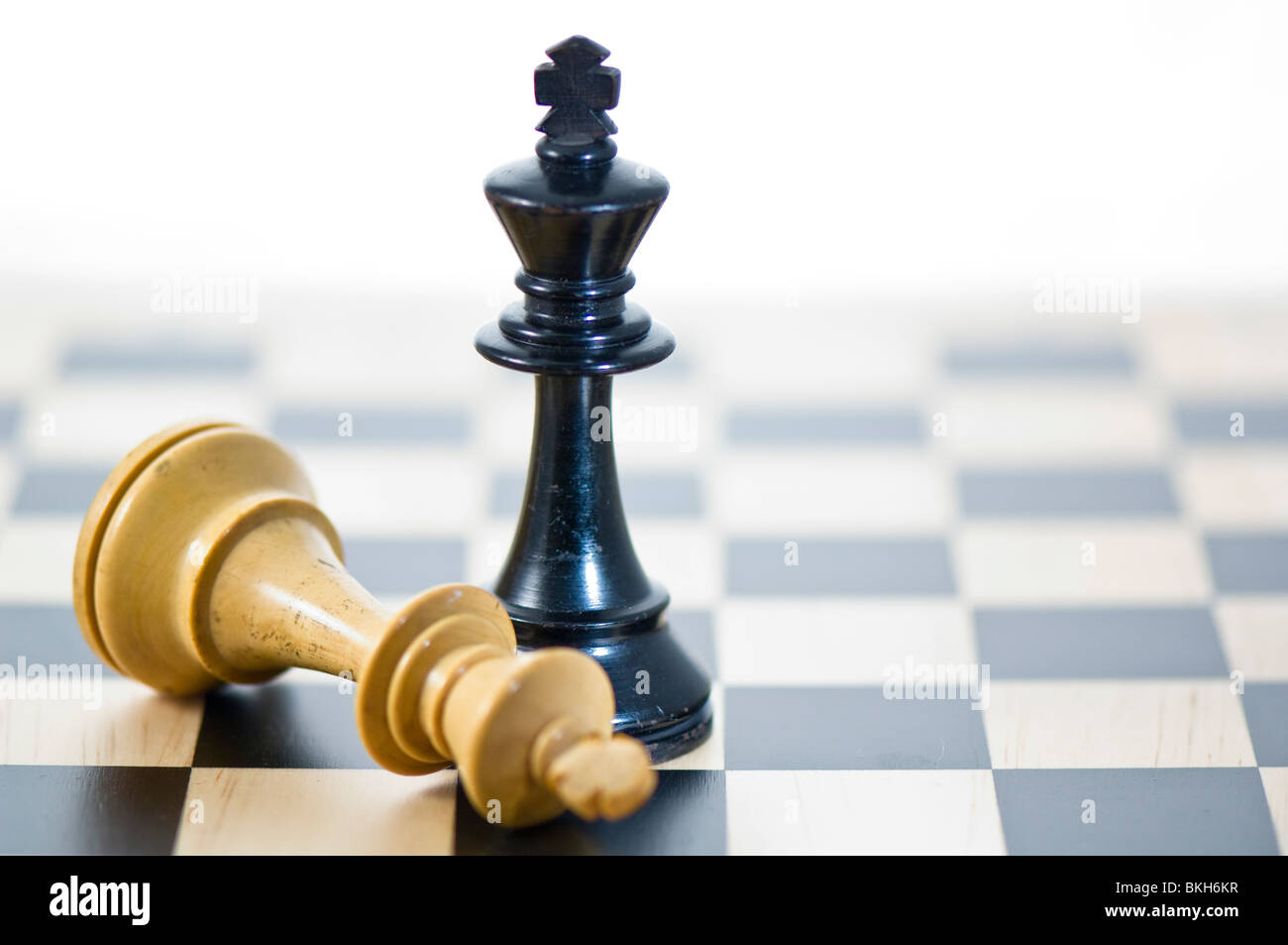 Chess. Black King victorious 2 - Stock Image