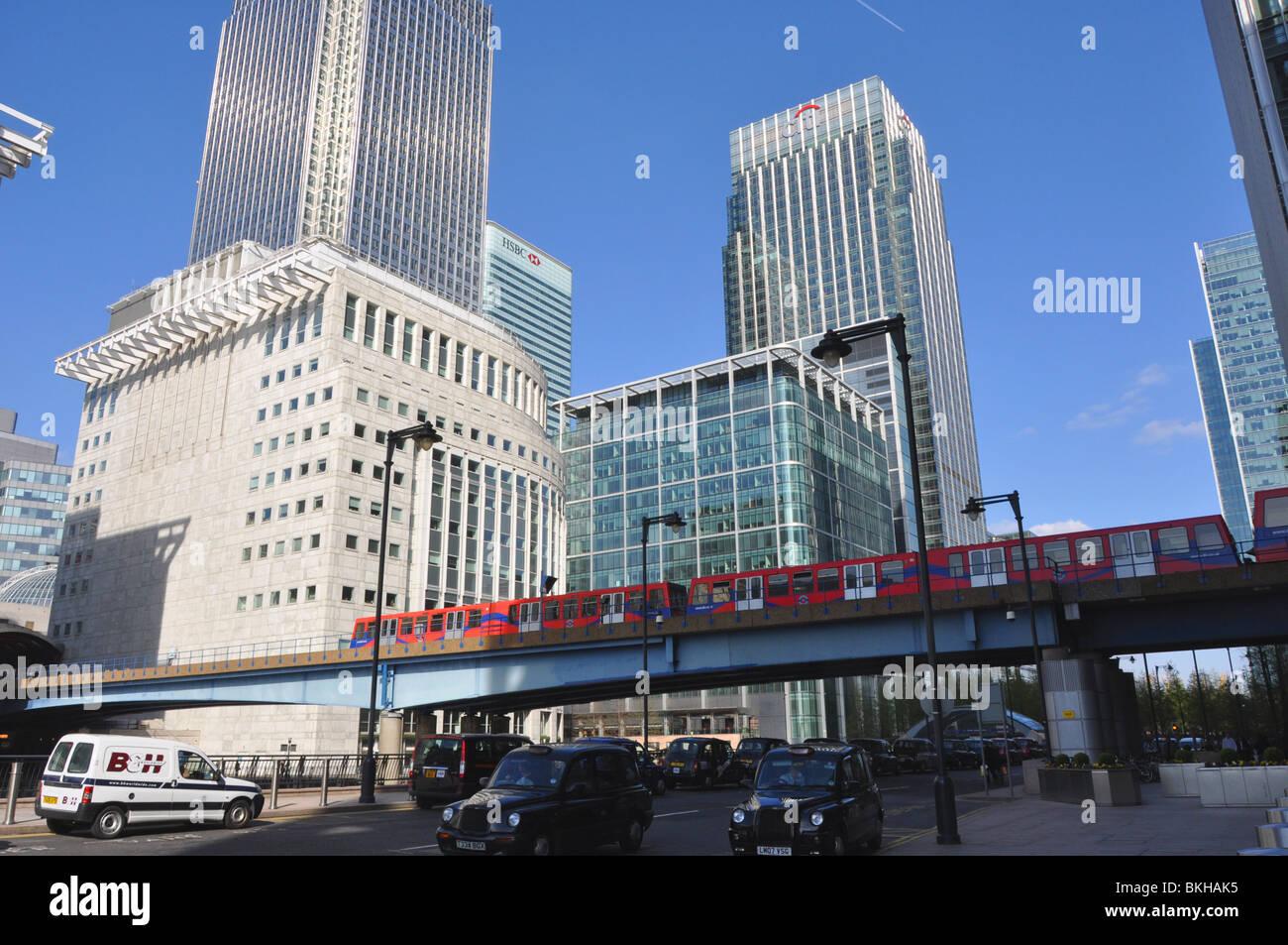 DLR  Canary Wharf London England UK - Stock Image