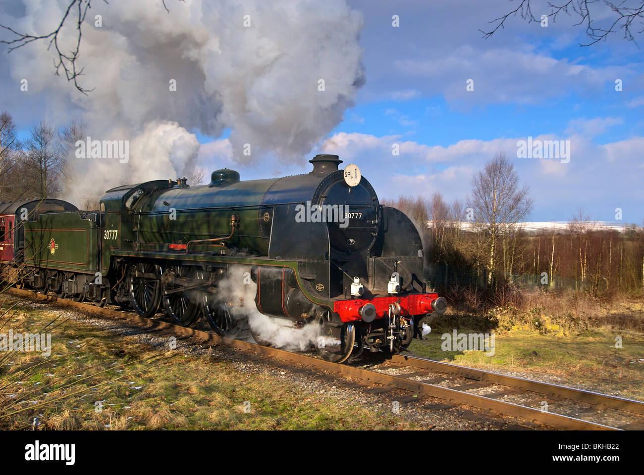 Southern Railway 'King Arthur' Class 30777 Sir Lamiel seen on the East Lancashire Heritage Railway based at Bury - Stock Image