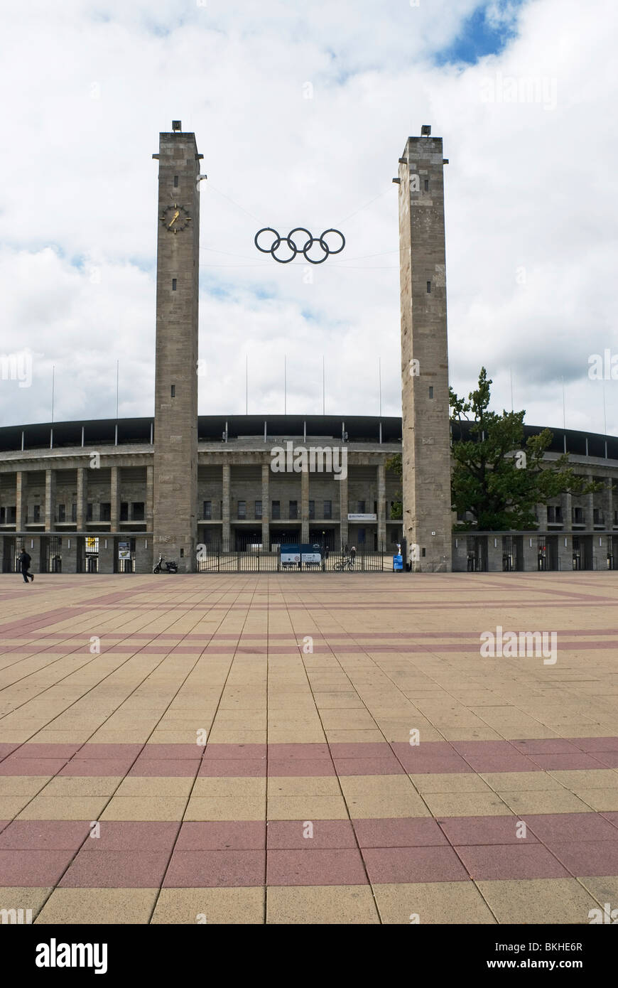 Olympiastadion Olympic Stadium, main entrance, Berlin, Germany - Stock Image