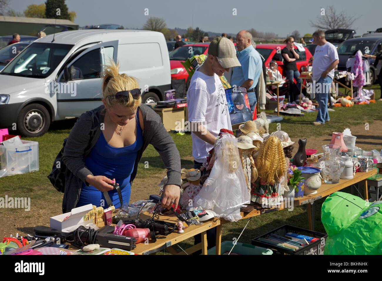 A car boot sale in England - Stock Image