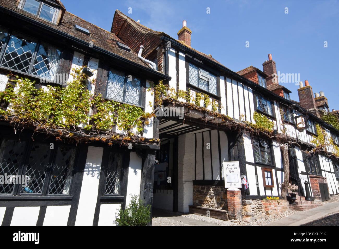 Mermaid Hotel Rye East Sussex - Stock Image
