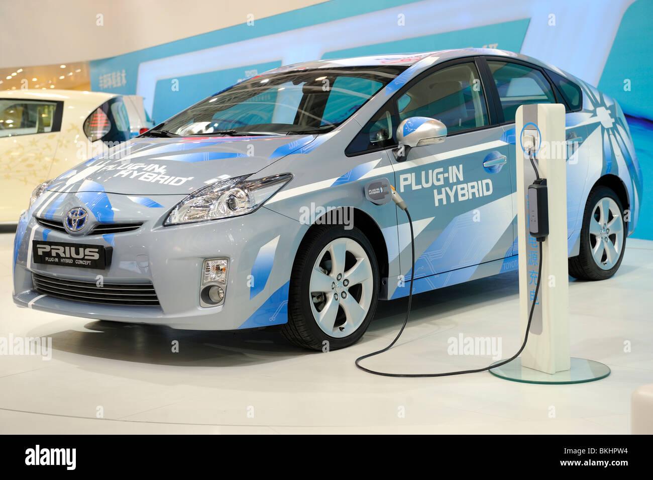 Toyota Prius at the Beijing Auto Show 2010. - Stock Image