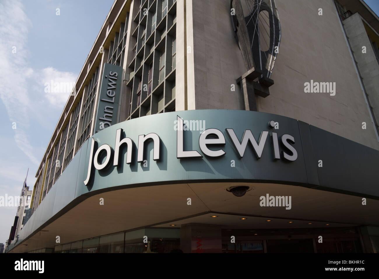 John Lewis department store/shop, Oxford Street, London, England, UK - Stock Image